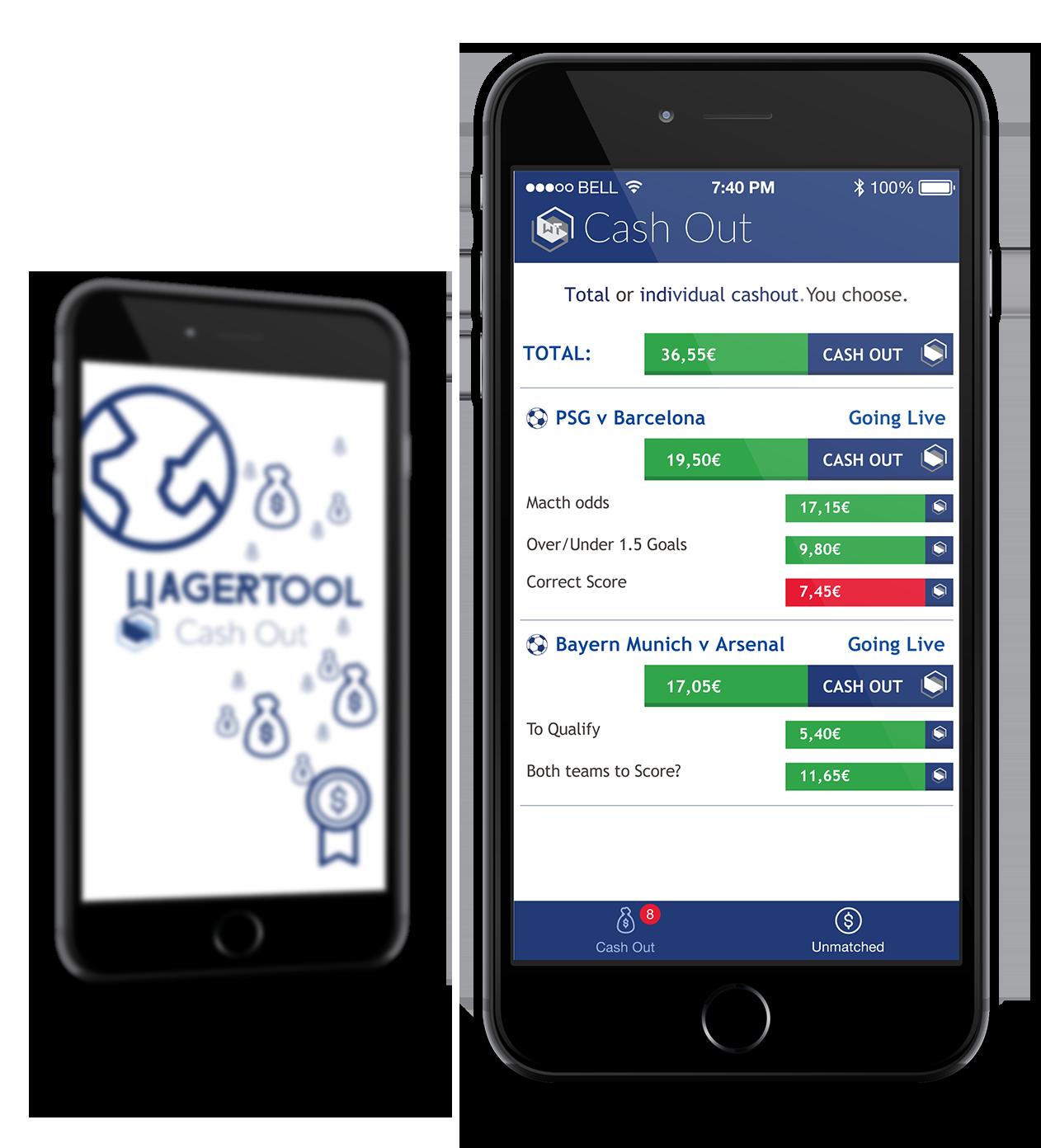 cashoutmockup frontglobal   Aplicativo de trading esportivo gratuito: Disponível paraAndroid eiOS | Wagertool